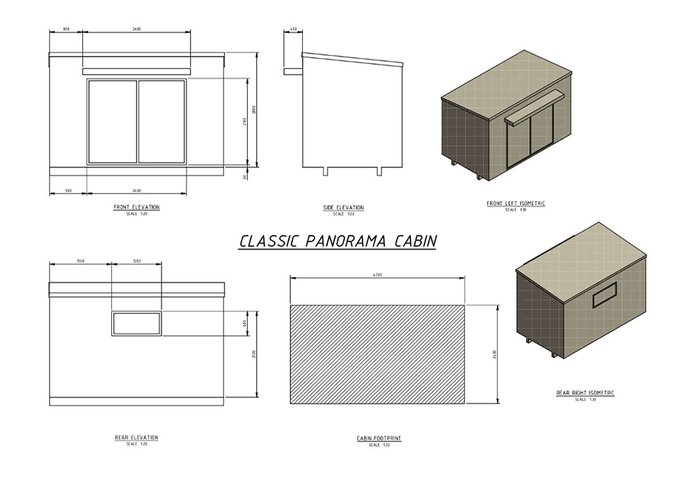 Floor Plan Of Classic Panorama Cabin For Rent By Classic Cabins In Nelson NZ