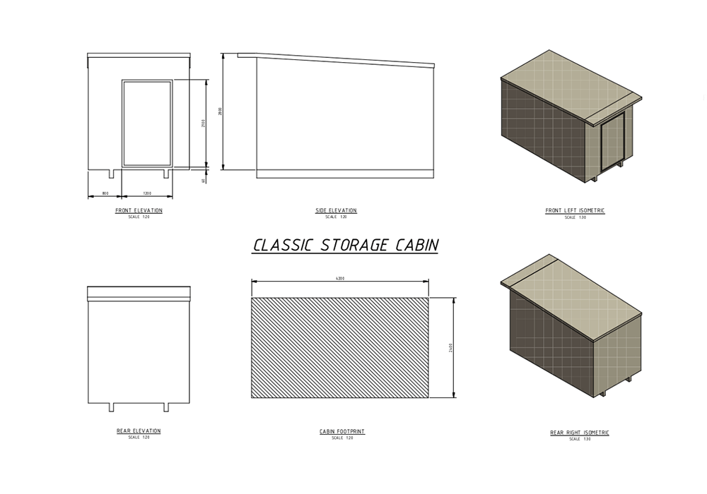 Floor Plan Of Classic Storage Cabin For Rent By Classic Cabins In Nelson NZ